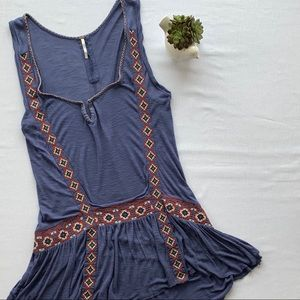 Free People sleeveless embroidered tunic